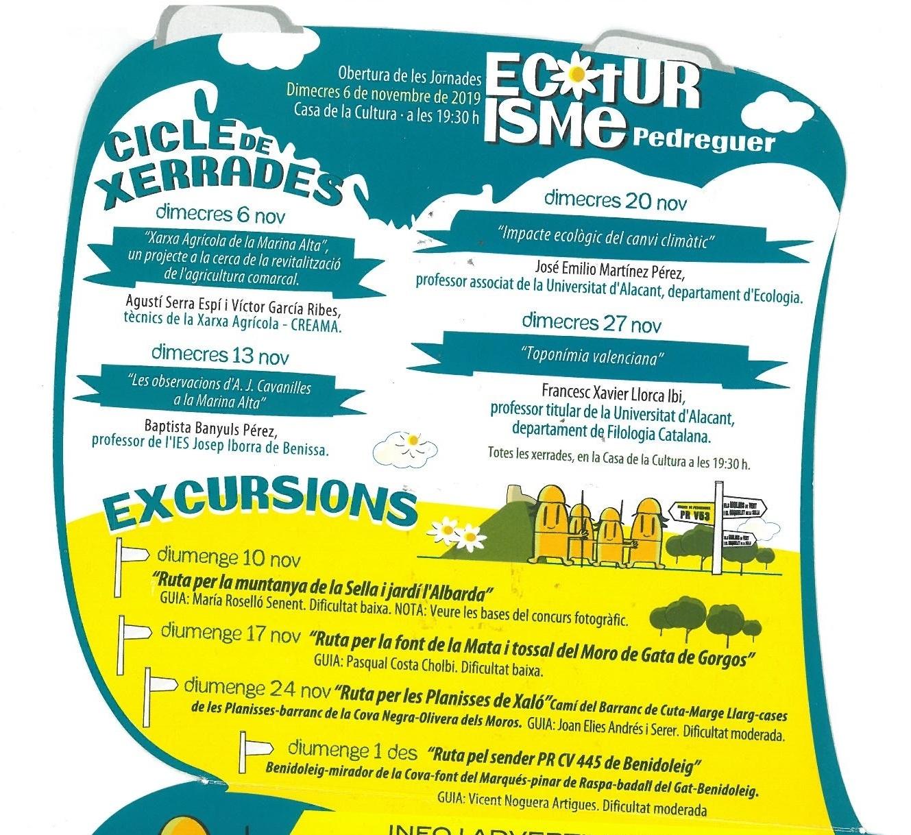 La Xarxa Agrícola en les Jornades Ecoturístiques a Pedreguer.