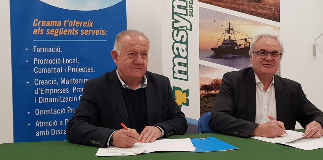 Creama firma convenio colaboración supermercados Masymas.