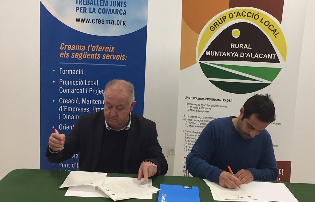 CREAMA firma convenio colaboración GALRMA